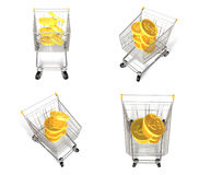 3D Shopping cart and purchase icons. 3D Icon Design Series. Stock Photography