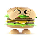 3d Shy burger Stock Photos
