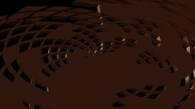 3d siatki abstrakcjonistyczny przedmiot obraca, zbliża i zmienia w monochromatycznego tło, royalty ilustracja