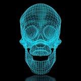 3D siatki czaszka Obraz Stock
