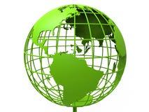 3D siatki zielonej ziemi ilustracja Zdjęcia Royalty Free