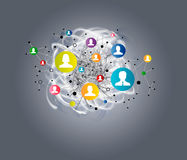 3d sieć obrazek odpłacający się ogólnospołecznym ilustracji