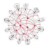 3d sieć obrazek odpłacający się ogólnospołecznym Obrazy Royalty Free