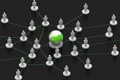 3d sieć obrazek odpłacający się ogólnospołecznym Fotografia Stock