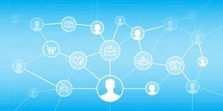 3d sieć obrazek odpłacający się ogólnospołecznym Zdjęcia Stock