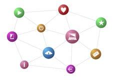 3d sieć obrazek odpłacający się ogólnospołecznym Zdjęcie Stock