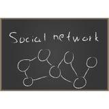 3d sieć obrazek odpłacający się ogólnospołecznym blackboard Zdjęcia Royalty Free