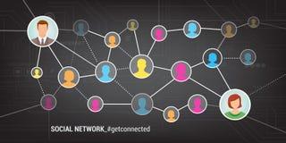 3d sieć obrazek odpłacający się ogólnospołecznym Obraz Royalty Free