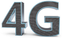 3d sign of 4G broadband. On white background Royalty Free Stock Images