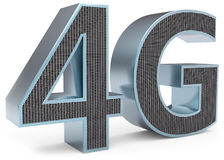 3d sign of 4G broadband. On white background Stock Images