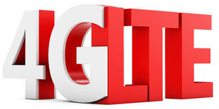 3d sign of 4G LTE broadband Stock Image
