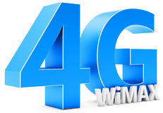 3d sign of 4G  Wimax wireless technology. On white background Royalty Free Stock Image
