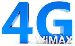 3d sign of 4G  Wimax wireless technology. On white background Stock Photography