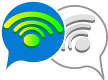 3D signals wifi for chat Royalty Free Stock Photos