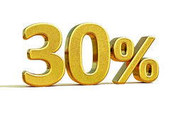 or 3d signe de remise de 30 pour cent Photos libres de droits