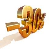 or 3d signe de remise de 30 pour cent Photo libre de droits