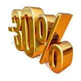 or 3d signe de remise de 30 pour cent Image libre de droits