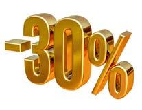 or 3d signe de remise de 30 pour cent Photos stock