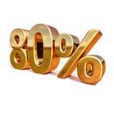 or 3d signe de remise de 80 quatre-vingts pour cent Photo stock
