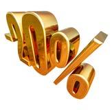 3d or 20 signe de remise de vingt pour cent illustration de vecteur