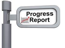 3d signpost with words progress report. 3d render of signpost with words progress report Stock Photo