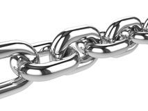 3d Silver chain Royalty Free Stock Photo