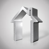 3d silver house render Stock Images