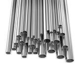 3d Silver metal pipes Stock Photos
