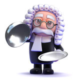3d Silver service judge Royalty Free Stock Photo