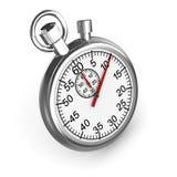 3d Silver stopwatch Royalty Free Stock Photos