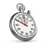 3d Silver stopwatch Royalty Free Stock Photography