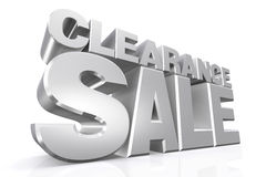 3D silver text clearance sale Royalty Free Stock Photography