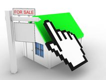 3d simple house Royalty Free Stock Image