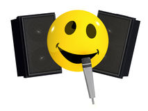 3d Singing smiley Royalty Free Stock Photos