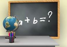 3d siwieją chalkboard Fotografia Stock
