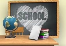 3d siwieją chalkboard Obraz Royalty Free