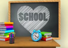 3d siwieją chalkboard Obrazy Stock