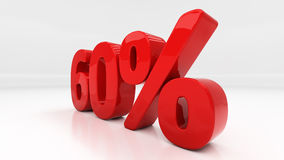 3D sixty percent Stock Photo
