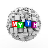 3d skära i tärningar asksfärbollen - myt Royaltyfria Foton