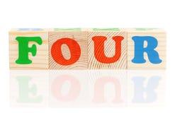 3d skära i tärningar bokstäver Arkivfoton