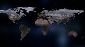 3d skapad jordillustrationbild mest framförande för nasa-delplanet Du kan se kontinenter, städer Beståndsdelar av denna avbildar  Arkivfoto