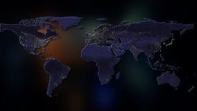 3d skapad jordillustrationbild mest framförande för nasa-delplanet Du kan se kontinenter, städer Beståndsdelar av denna avbildar  Royaltyfri Fotografi