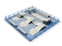 3d Skatepark 库存例证