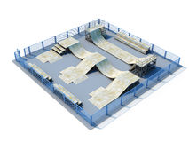 3d Skatepark Royalty Free Stock Photography