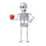 3d Skeleton has brought an apple for teacher Stock Photos
