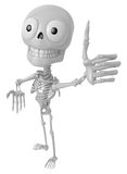 3D Skeleton Mascot the best hand gesture. 3D Skull Character Des Stock Photography