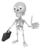 3D Skeleton Mascot the best hand gesture. 3D Skull Character Des Royalty Free Stock Photos