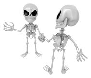 3D Skeleton Mascot is Competitors will shake the false divide ea Stock Photos
