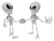 3D Skeleton Mascot is Competitors will shake the false divide ea Stock Images