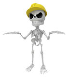 3D Skeleton Mascot is doing not to know gestures. 3D Skull Chara Royalty Free Stock Photos